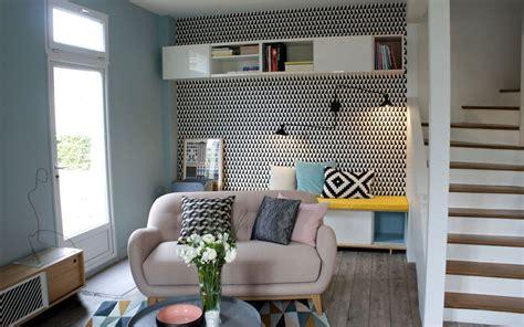 peinture chambre mauve et blanc style scandinave bleu canard