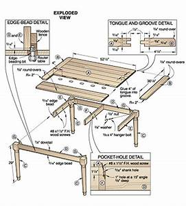 Build Wooden Country Style Dining Table Plans Plans
