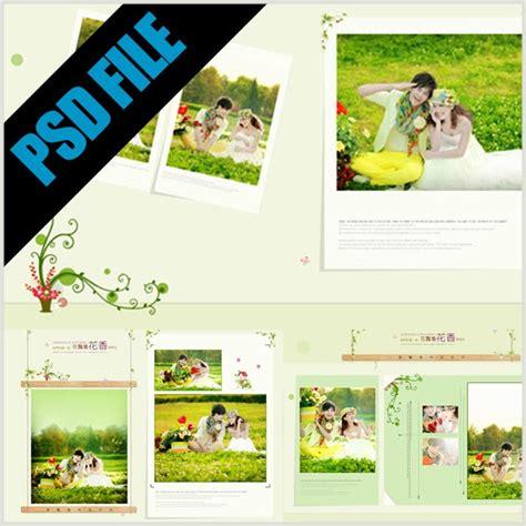 gratis  template album kolase floral format psd
