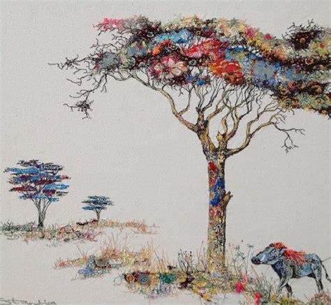 acacia tree  warthog art kaleidoscope