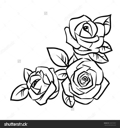 simple rose outline drawing google search   rose