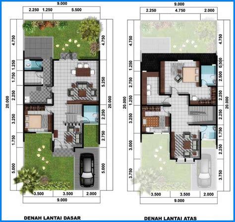 denah rumah minimalis  lantai modern sederhana