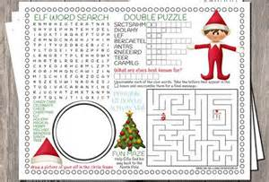 Elf Christmas Printable Activity