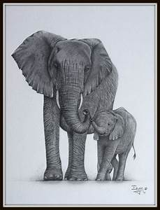 Elephant mom and baby by IngeLammers on DeviantArt