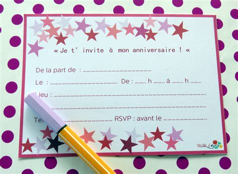 Carte Invitation Anniversaire  Carte Invitation