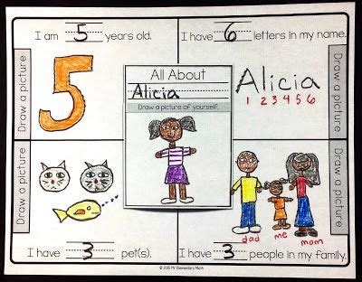 primary all about me math activity classroom freebies 627 | 2409abfc13522b14939541b4e332d3d6