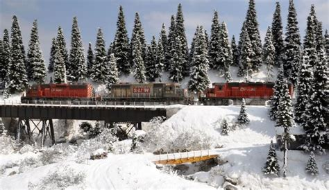 railroad snow train winter diorama scene layout trains hobbyist cp railway dioramas scenes minnesota rail ho layouts magazine summer covered