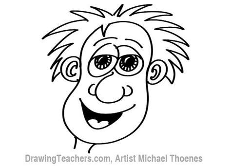 draw  funny face man