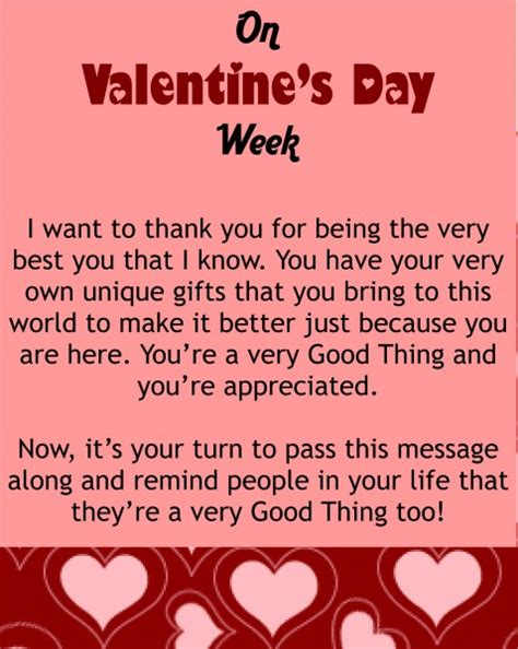 valentines day message   good