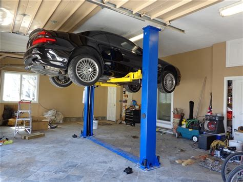 2 post car lift low ceiling bison 9kaf 2 post lifts american auto equipment