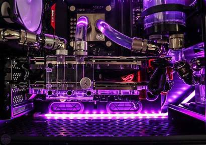 Pc Gaming Water Cooled Purple Inside Overclockers