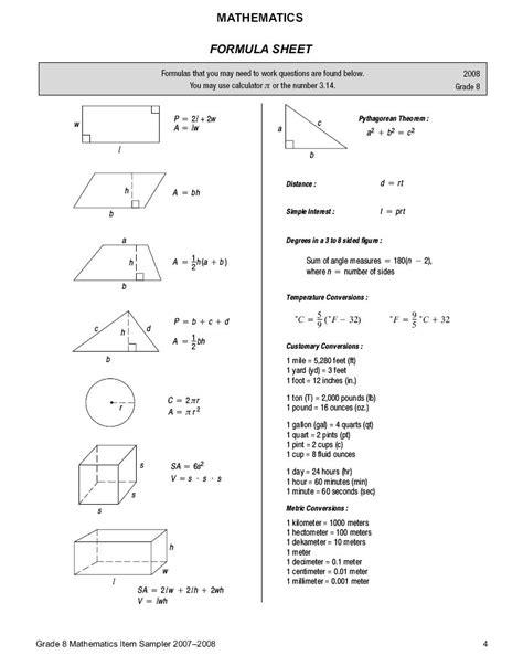 Pssa Math Practice Worksheets Grade 7  Pssa Math Practice