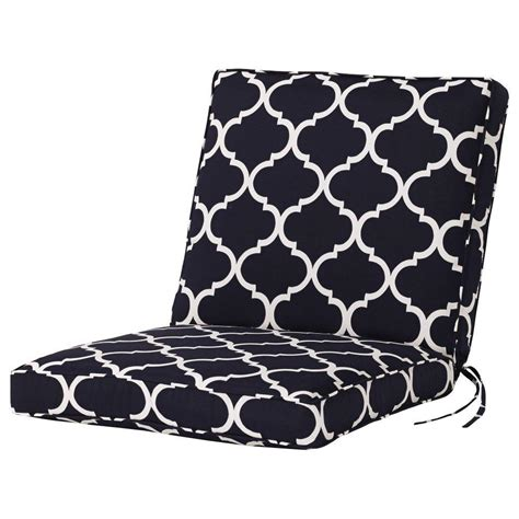 navy dining chair cushions home decorators collection landview navy outdoor dining