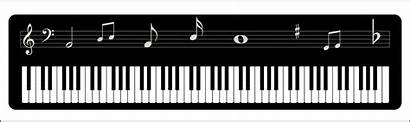 Piano Keyboard Clipart Notes Musical Vector Silhouette