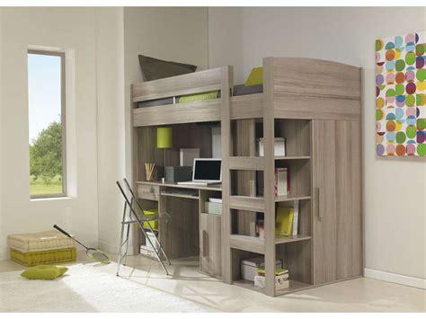 lit bureau conforama lit mezzanine 90x200 cm montana chêne gris vente de lit