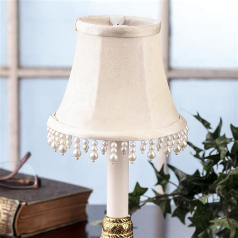 ivory pearl candelabra l shade lighting primitive decor