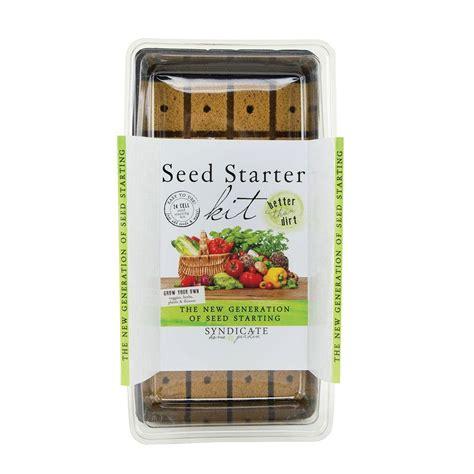 garden starter kit syndicate 24 cell seed starter kit 6505 12 00 the home depot