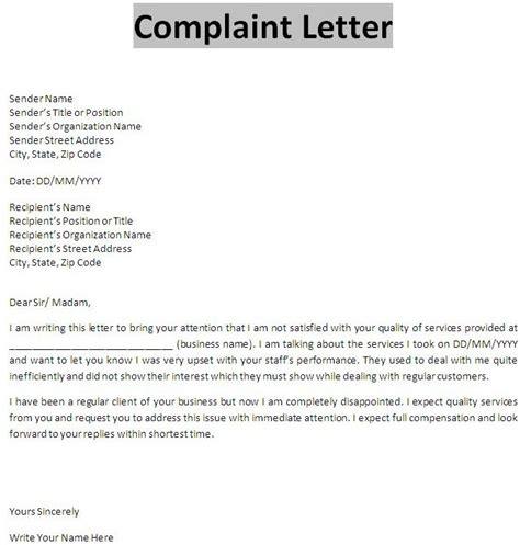 complaint letter  business communication