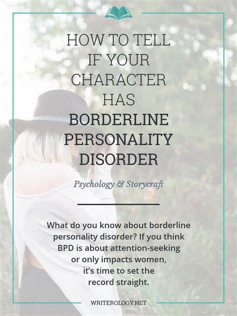 character  borderline personality