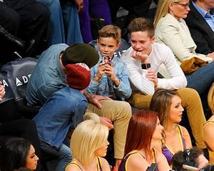 David Beckham at the Lakers Game With His Sons | Pictures ...