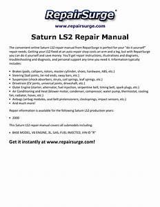 Saturn Ls2 Repair Manual 2000 By Albert998
