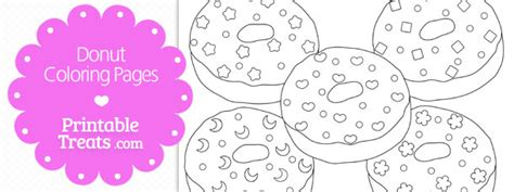 printable donut coloring pages
