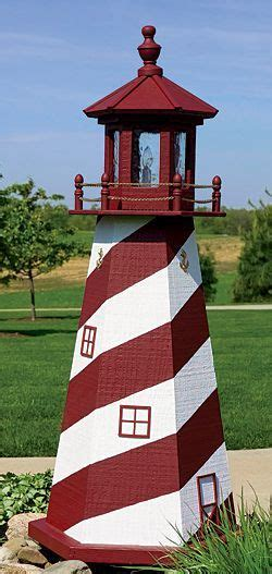 amish wooden lighthouses lawn garden yard lighthouses