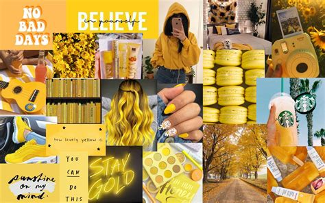 yellow collage wallpapers