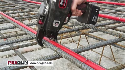 PEXGUN automatic PEX PIPE tie tool   YouTube