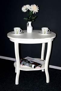 Beistelltisch Weiß Vintage : massivholz tisch beistelltisch teetisch oval 57 holz massiv wei antik ~ Yasmunasinghe.com Haus und Dekorationen