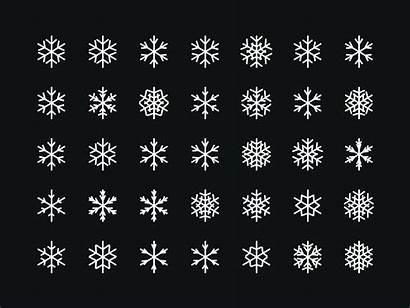 Snowflakes Simple Merry Dribbble Generative Flakes Snow
