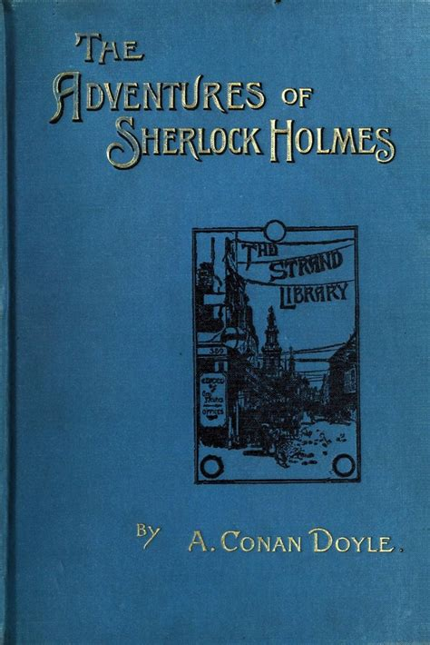 sherlock holmes covers arthur doyle conan books adventures stories sir edition short ee 1892 london illustrations