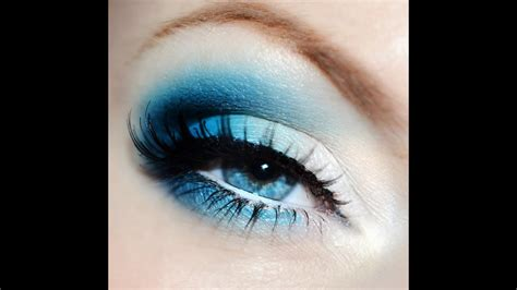 bright blue eyes makeup tutorial youtube
