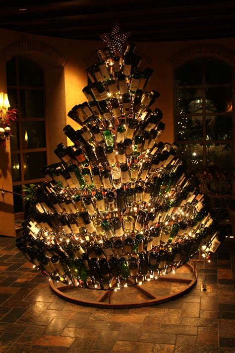 christmas trees made of bottles wine bottle tree grapefriend