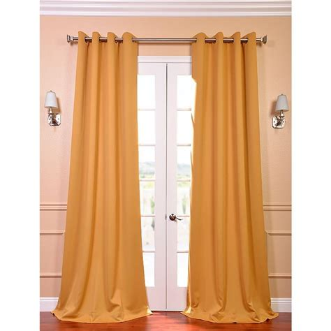 exclusive fabrics furnishings marigold grommet blackout curtain 50 in w x 96 in l pair