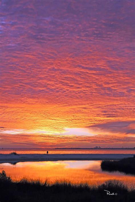 sunset  pond vertical  richard roselli