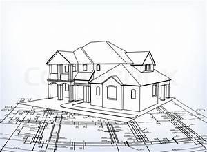 Haus Zeichnen 3d : haus vektor technische zeichnen vektorgrafik colourbox ~ Watch28wear.com Haus und Dekorationen