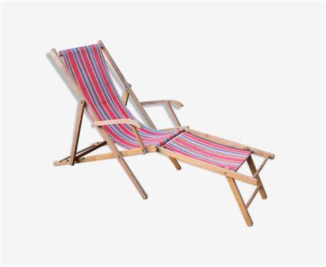 chaise longue en bois ancien transat en bois chaise longue bois mat 233 riau marron vintage 6vhqdhg