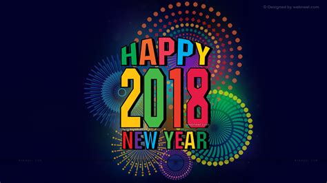 2018 Wallpaper, Happy New Year 2018, Happy New Year