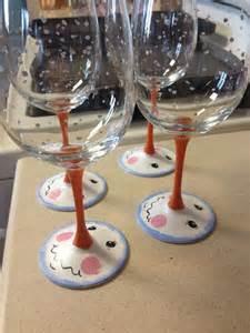 Snowman Painted Wine Glasses