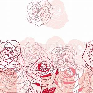 Floral background with pink roses Vector illustration