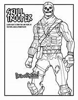 Fortnite Coloring Pages Skull Trooper Wick Battle Royale Drawing Draw Printable Easy Knight Drawittoo Kleurplaat Beef Boss Print Too John sketch template