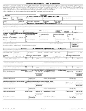 freddie mac form 65 fillable pdf 2009 2018 form freddie mac 65 fannie mae 1003 5 pages