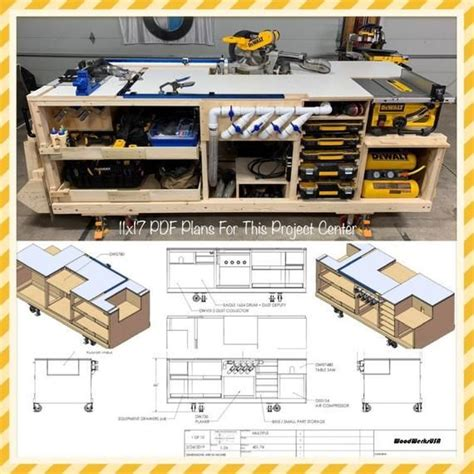 mobile project center workbench plans dewalt kreg