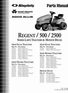 Simplicity Regent 500 Parts Manual Tp 400 2146 01 Rg Sma