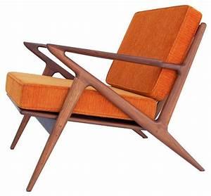 Classic Z Chair, Electric Orange - Midcentury - Armchairs