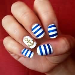 Nails sailors ideas nail design stripes cute