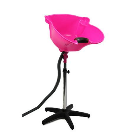 portable back wash basin deep sink fluoro pink tilt and