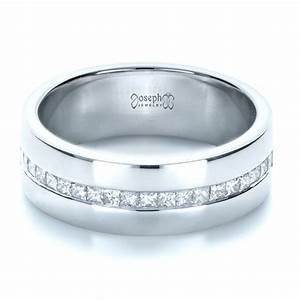 custom white gold and diamond men39s wedding band 1306 With white gold male wedding rings