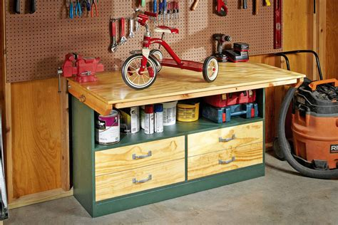 build  space saving workbench  zealand handyman magazine